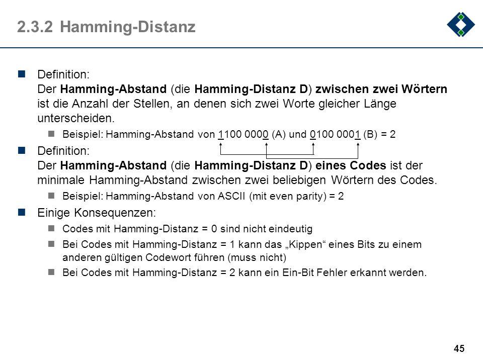 2.3.2 Hamming-Distanz