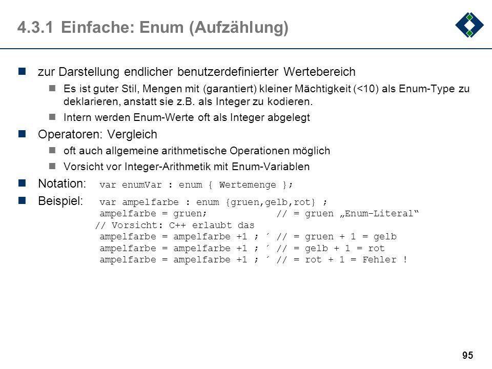4.3.1 Einfache: Enum (Aufzählung)