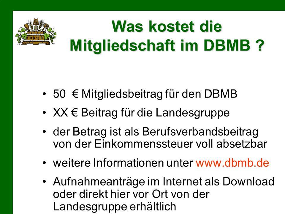 Was kostet die Mitgliedschaft im DBMB