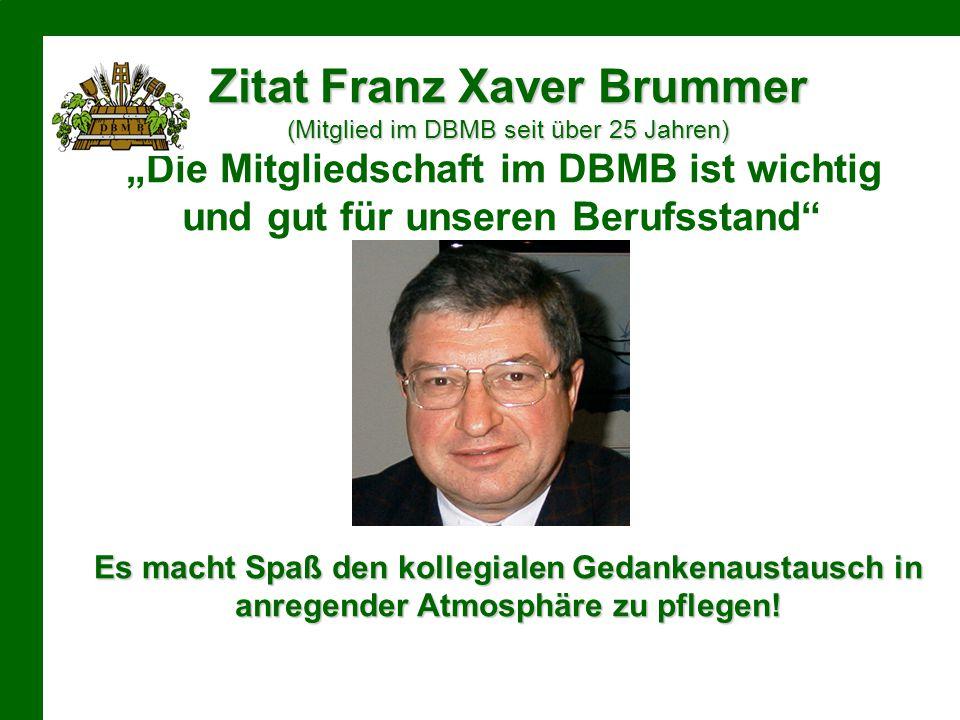 Zitat Franz Xaver Brummer