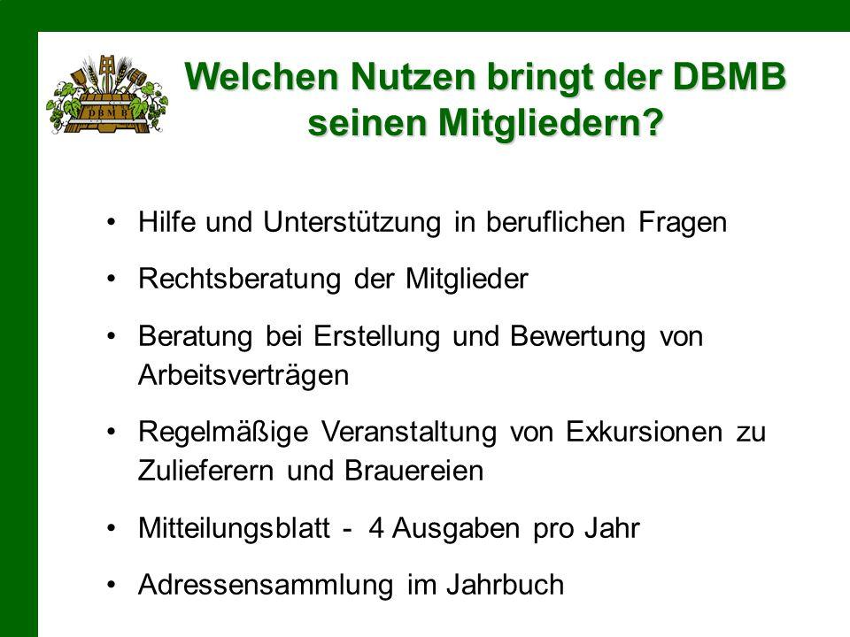 Welchen Nutzen bringt der DBMB seinen Mitgliedern