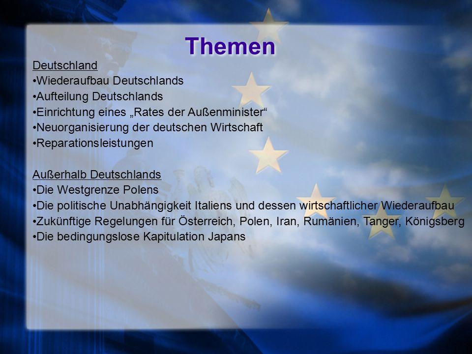 Themen Deutschland Wiederaufbau Deutschlands Aufteilung Deutschlands