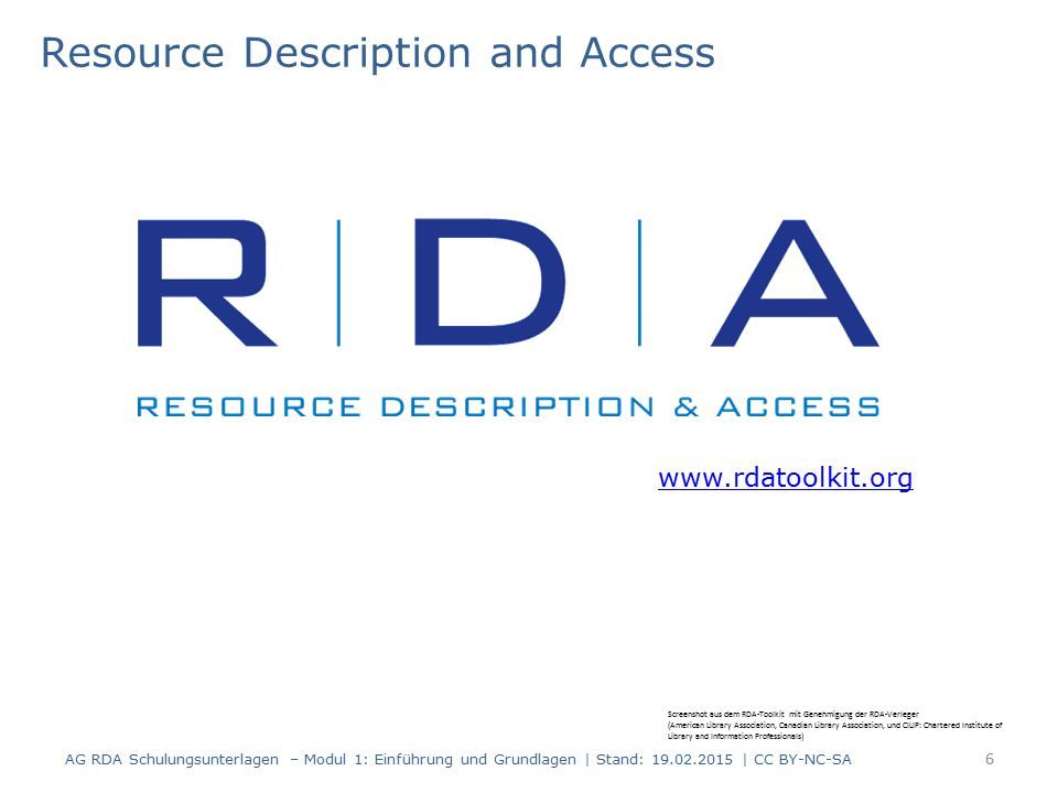 Resource Description and Access