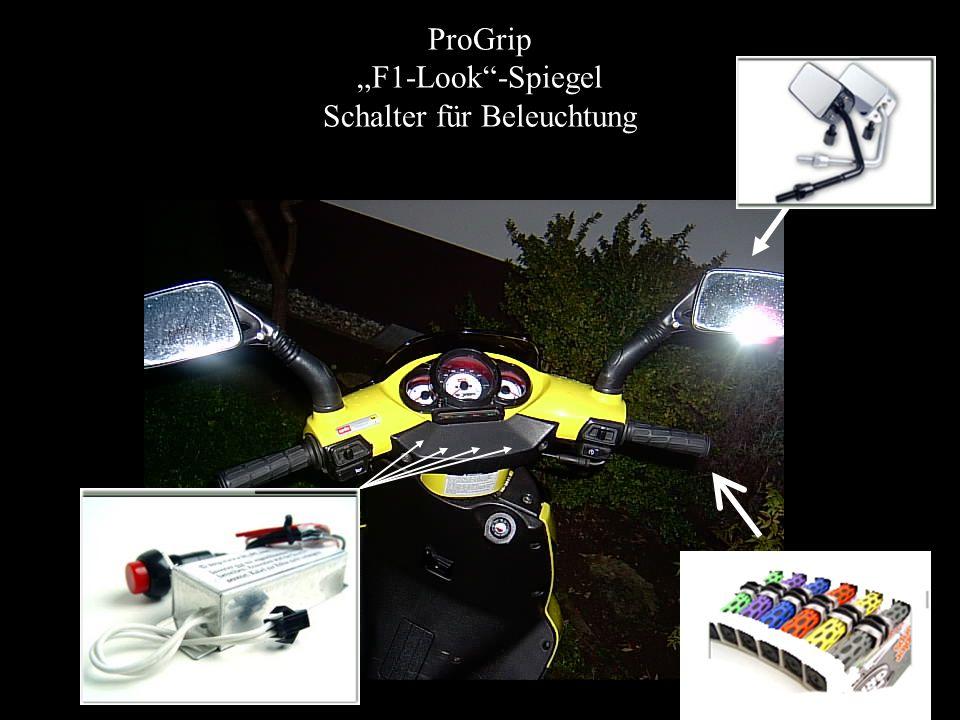 """ProGrip """"F1-Look -Spiegel Schalter für Beleuchtung"""
