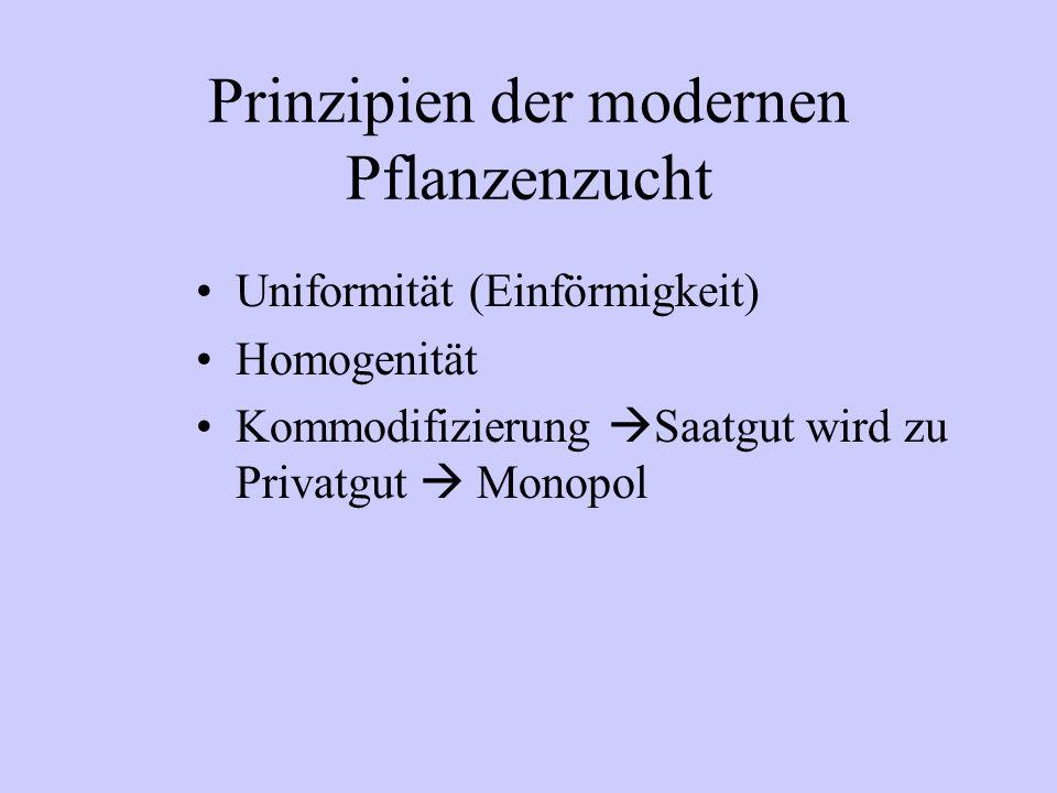 Prinzipien der modernen Pflanzenzucht