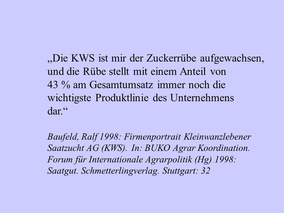"""""""Die KWS ist mir der Zuckerrübe aufgewachsen,"""