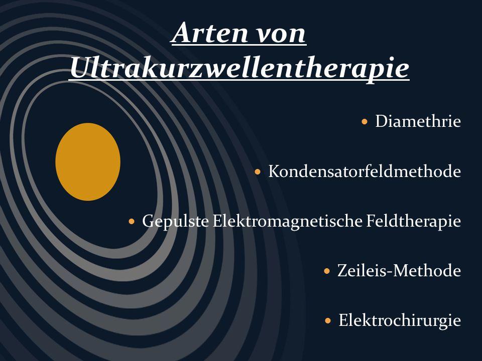 Arten von Ultrakurzwellentherapie