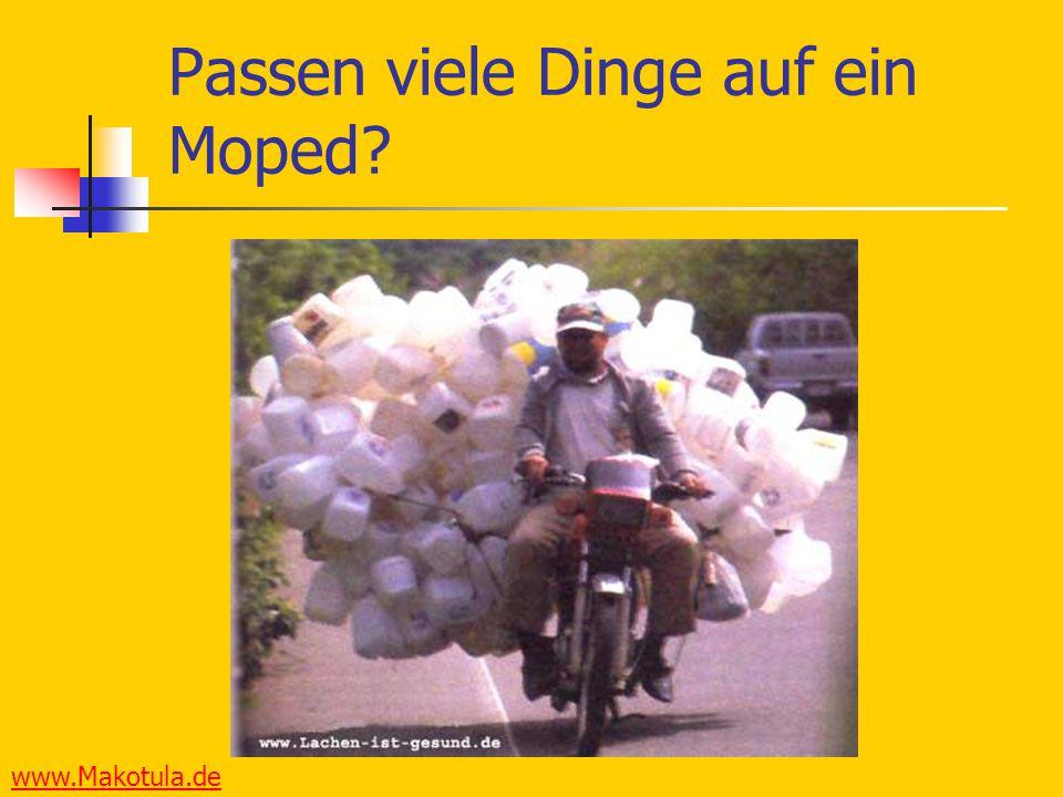 Passen viele Dinge auf ein Moped