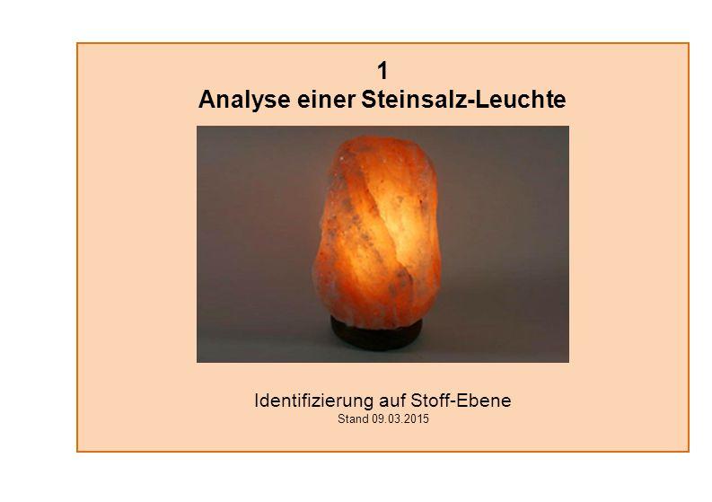 1 Analyse einer Steinsalz-Leuchte