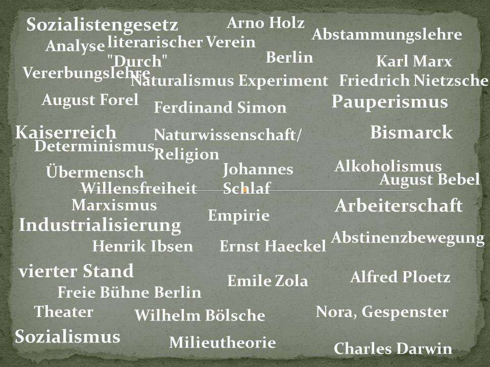 Sozialistengesetz Pauperismus Kaiserreich Bismarck Arbeiterschaft
