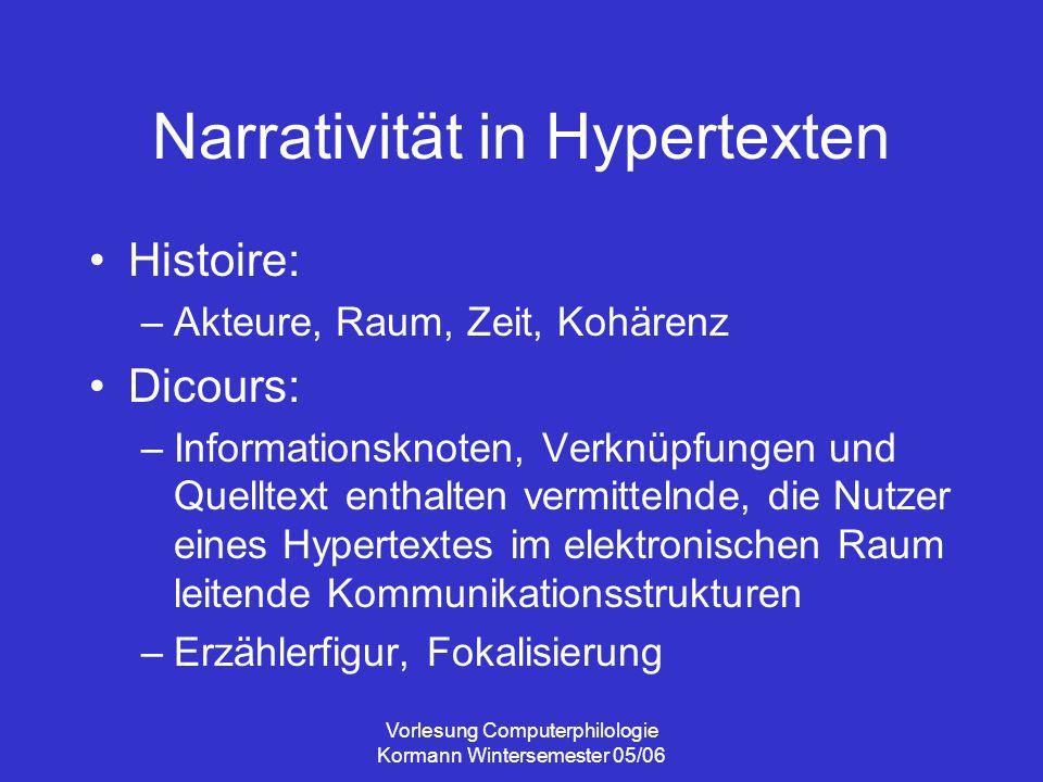 Narrativität in Hypertexten