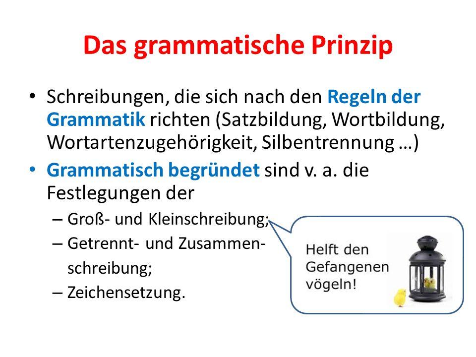 Das grammatische Prinzip