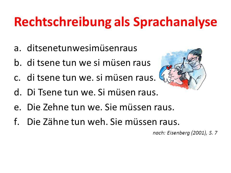Rechtschreibung als Sprachanalyse