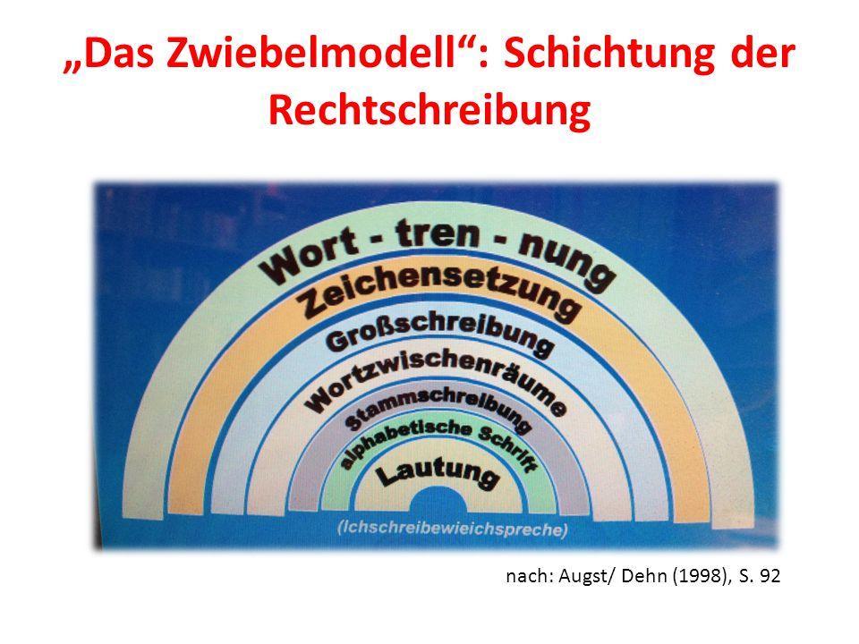 """""""Das Zwiebelmodell : Schichtung der Rechtschreibung"""