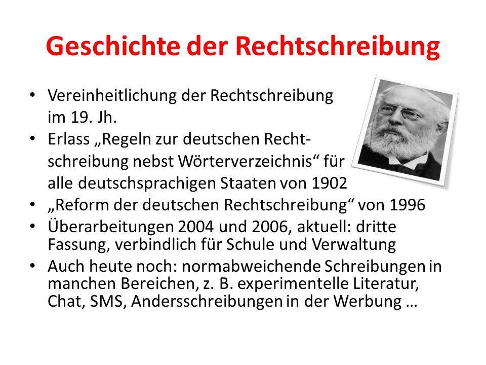 Geschichte der Rechtschreibung