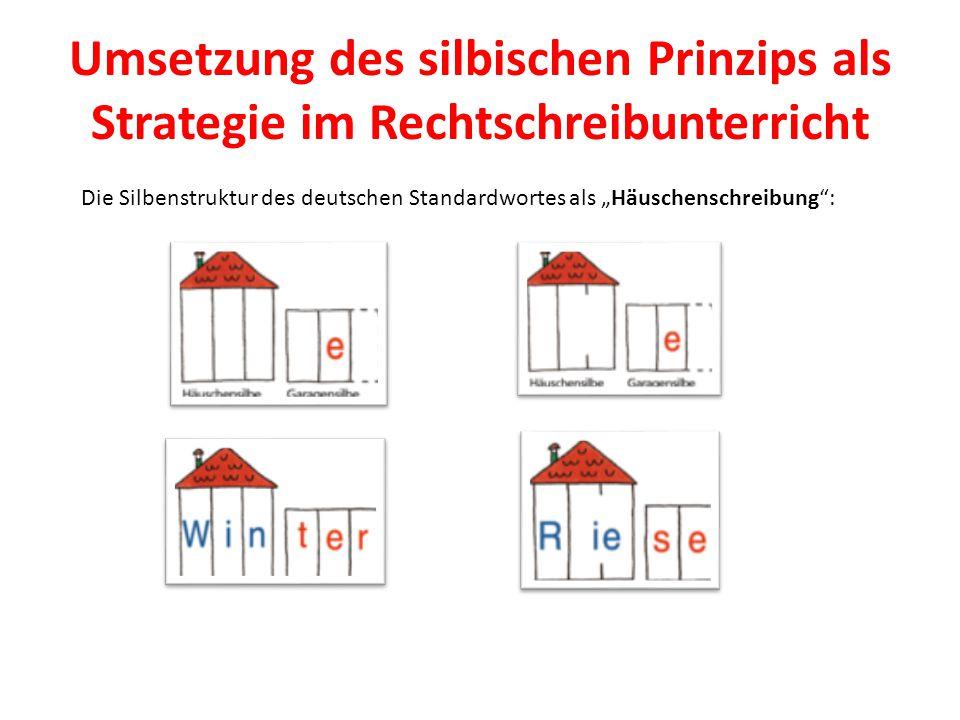 Umsetzung des silbischen Prinzips als Strategie im Rechtschreibunterricht