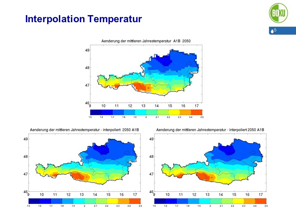 Interpolation Temperatur