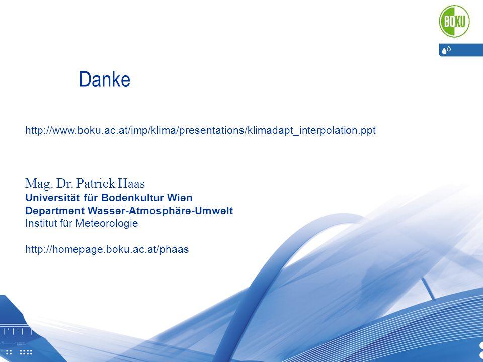 Danke Mag. Dr. Patrick Haas