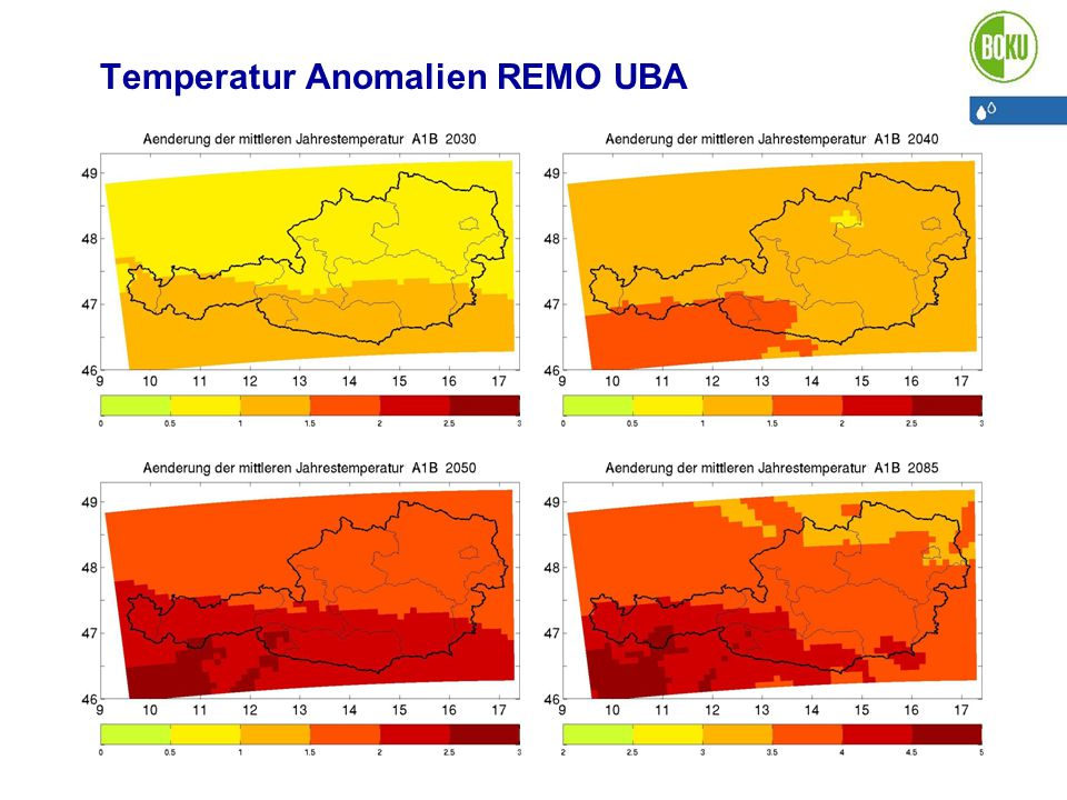 Temperatur Anomalien REMO UBA