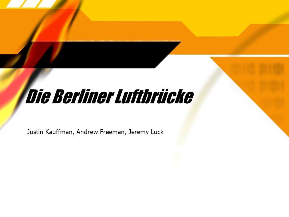 Die Berliner Luftbrücke