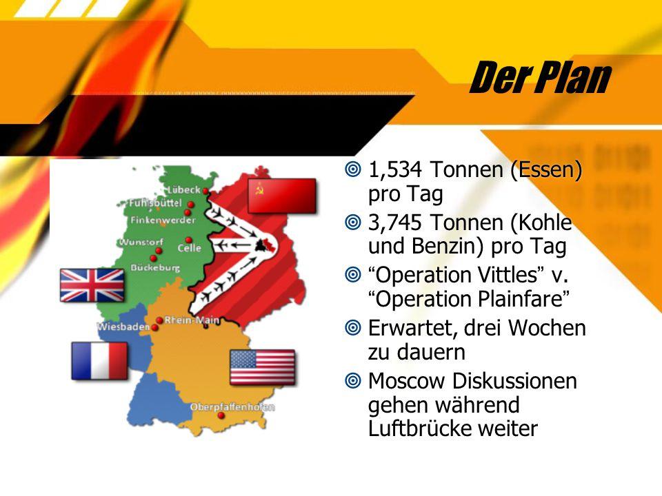 Der Plan 1,534 Tonnen (Essen) pro Tag