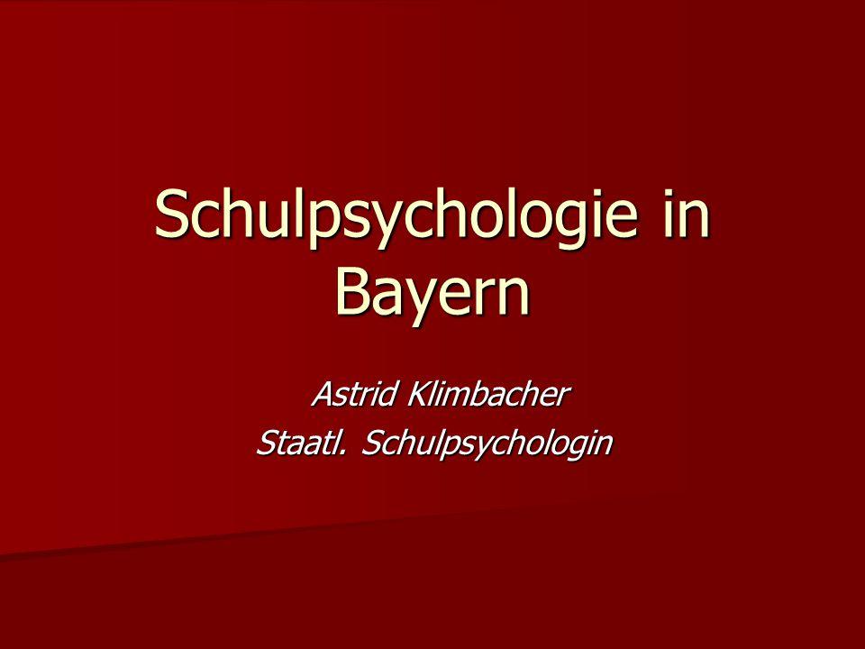 Schulpsychologie in Bayern