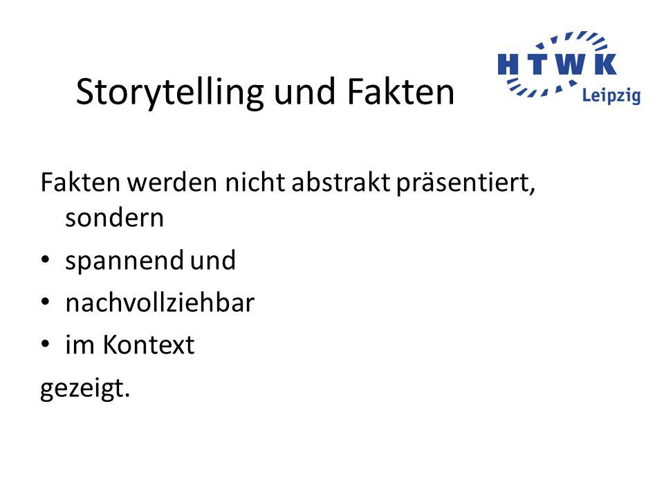 Storytelling und Fakten