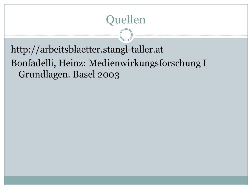 Quellen http://arbeitsblaetter.stangl-taller.at