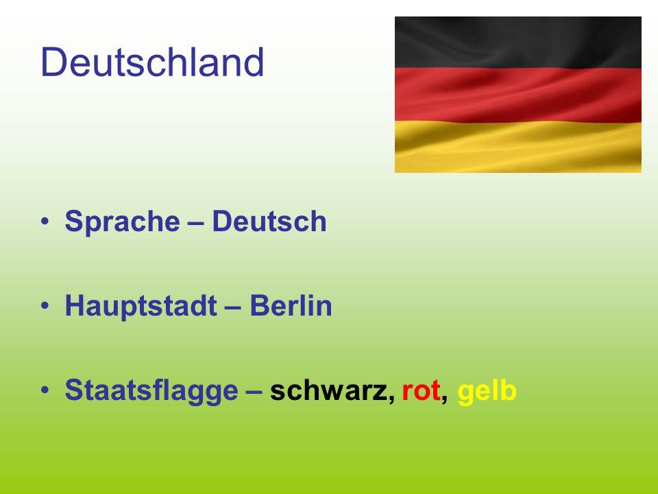 Deutschland Sprache – Deutsch Hauptstadt – Berlin