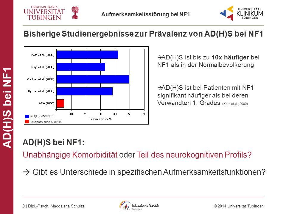 Bisherige Studienergebnisse zur Prävalenz von AD(H)S bei NF1