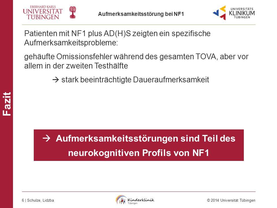 Patienten mit NF1 plus AD(H)S zeigten ein spezifische Aufmerksamkeitsprobleme:
