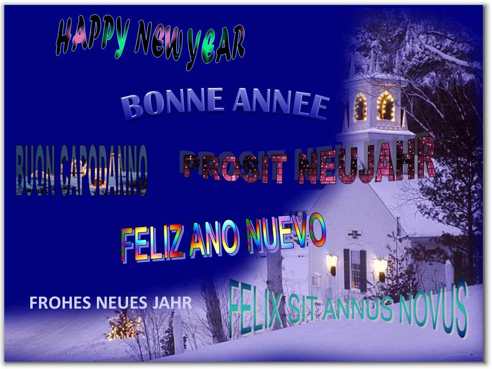 BONNE ANNEE FELIZ ANO NUEVO HAPPY NEW YEAR PROSIT NEUJAHR