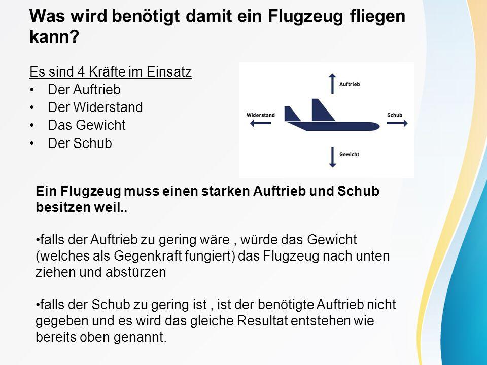 Was wird benötigt damit ein Flugzeug fliegen kann