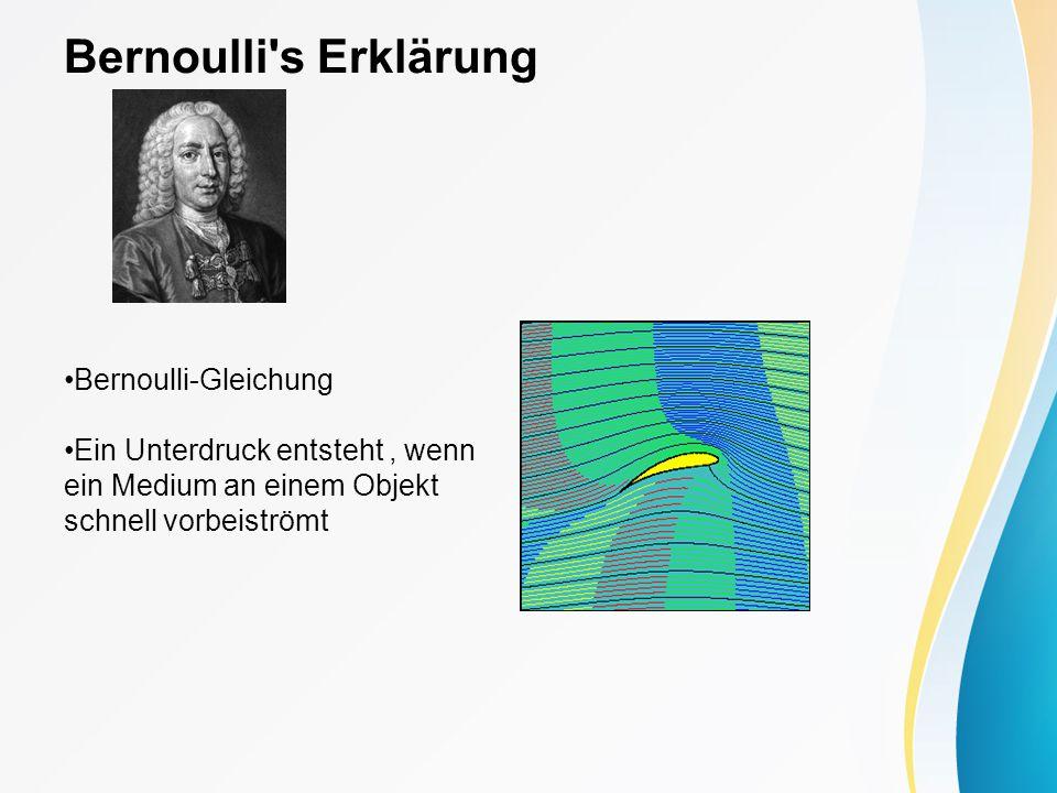 Bernoulli s Erklärung Bernoulli-Gleichung