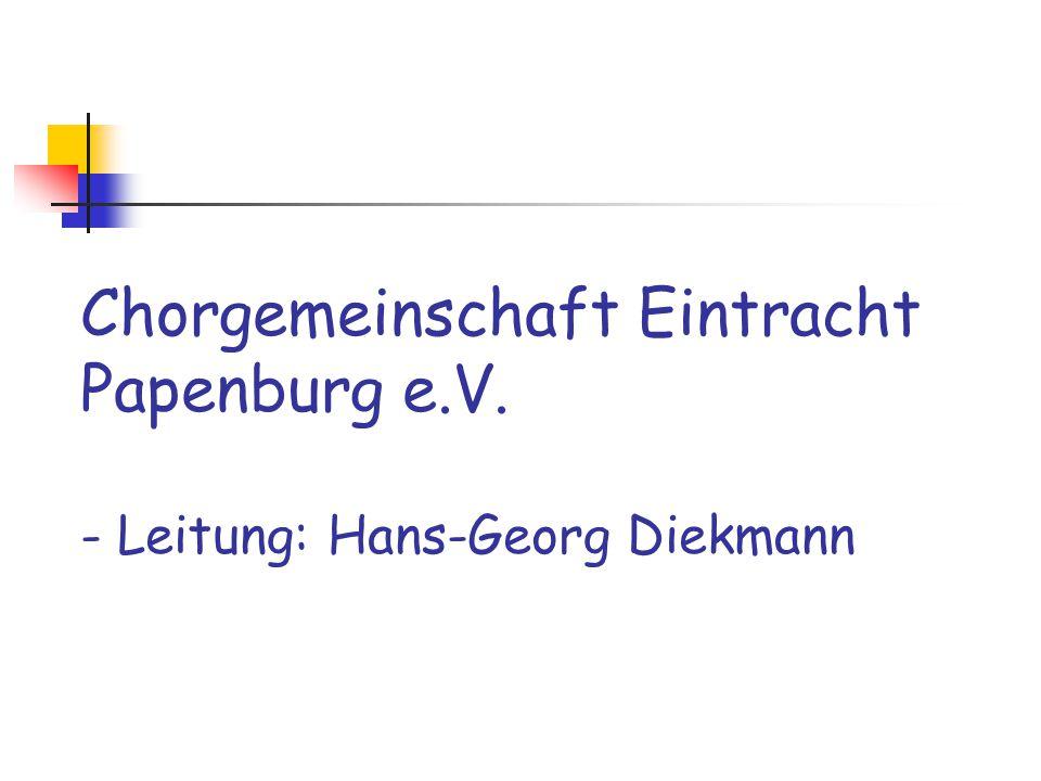 Chorgemeinschaft Eintracht Papenburg e. V