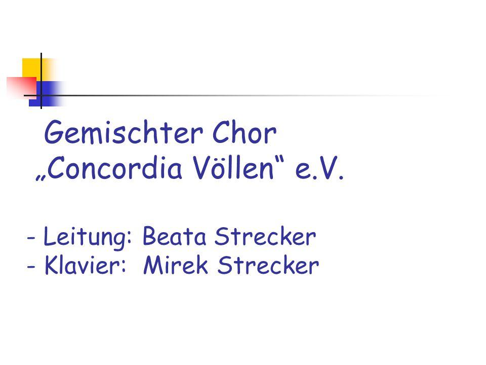 "Gemischter Chor ""Concordia Völlen e. V"