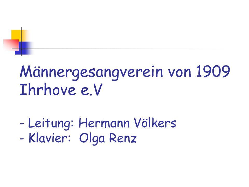 Männergesangverein von 1909 Ihrhove e