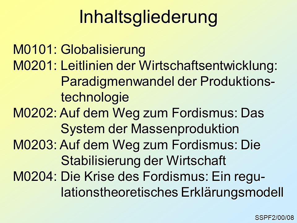 Inhaltsgliederung M0101: Globalisierung