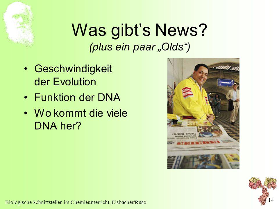 """Was gibt's News (plus ein paar """"Olds )"""