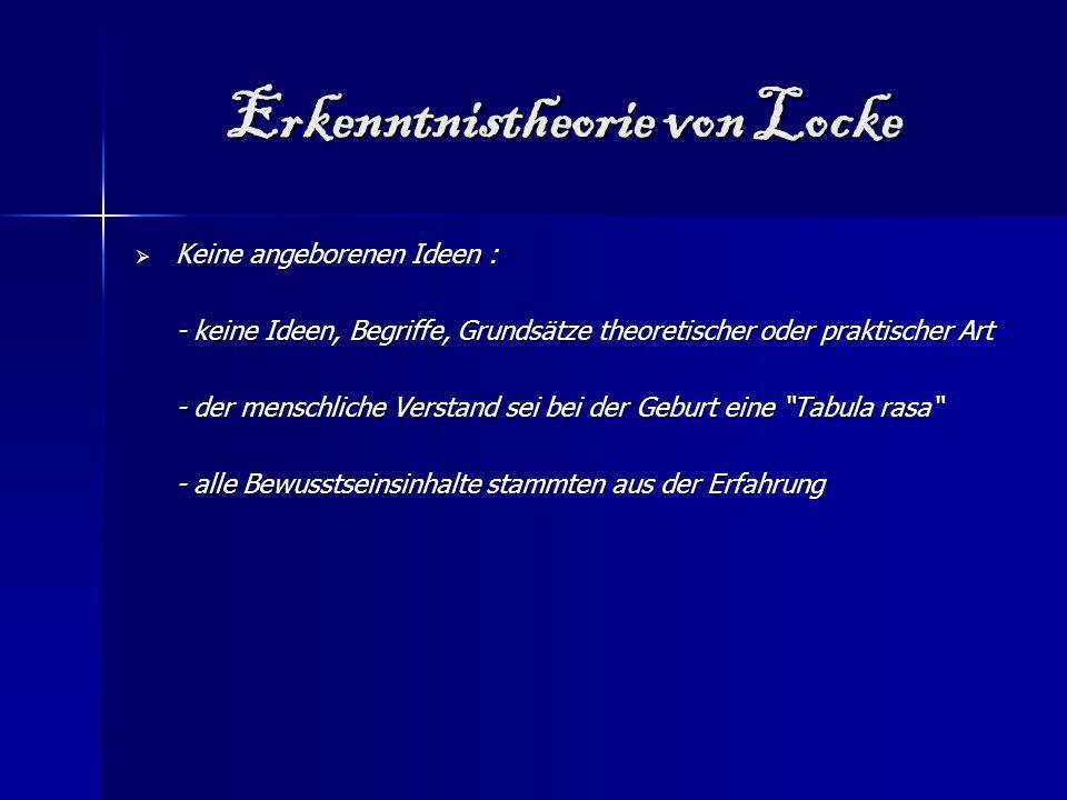 Erkenntnistheorie von Locke