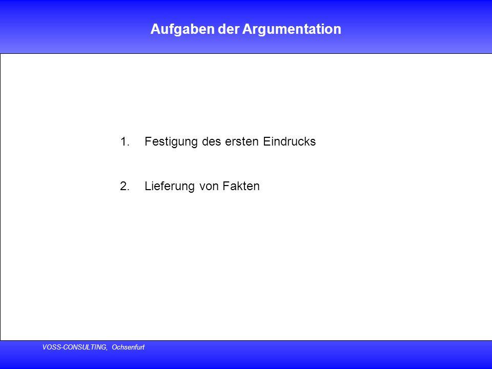 Aufgaben der Argumentation