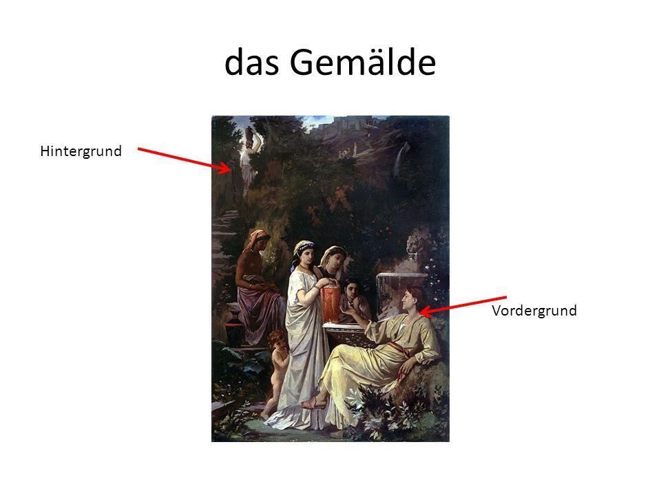 das Gemälde Hintergrund Vordergrund