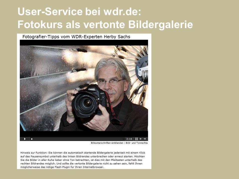 User-Service bei wdr.de: