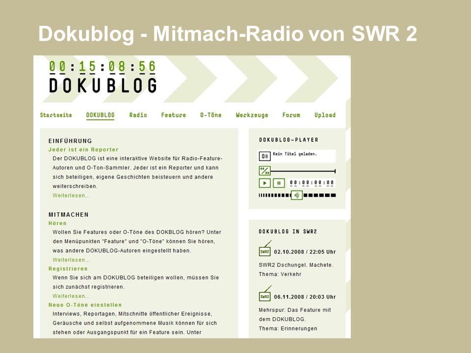 Dokublog - Mitmach-Radio von SWR 2