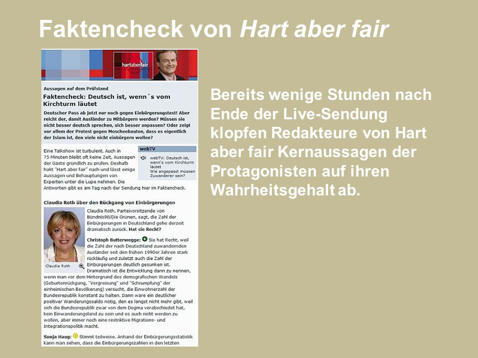 Faktencheck von Hart aber fair