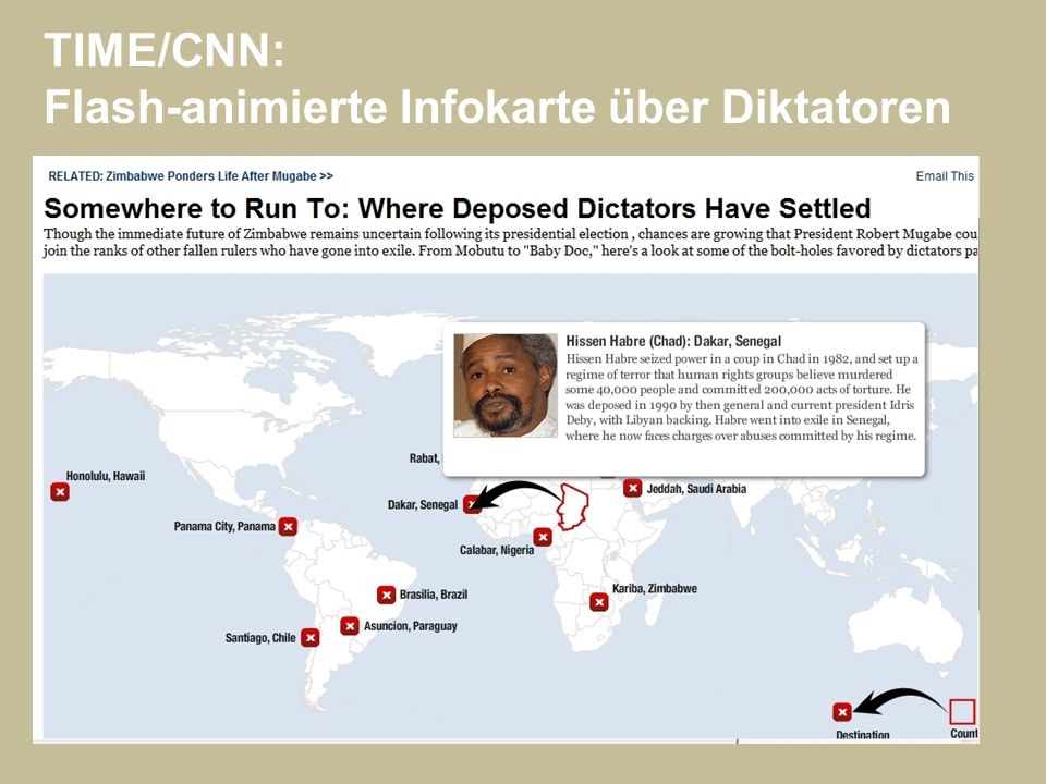 TIME/CNN: Flash-animierte Infokarte über Diktatoren