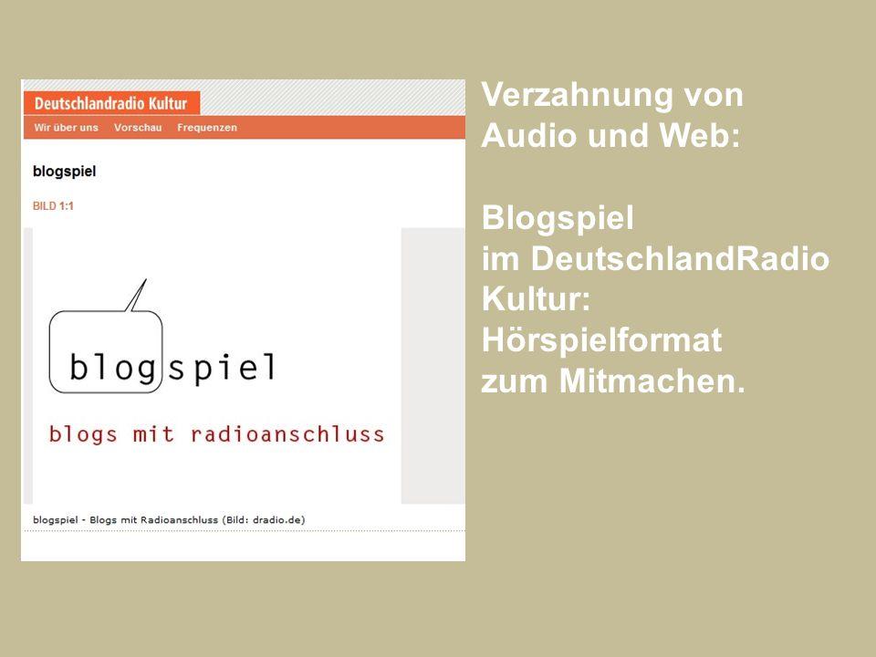 Verzahnung von Audio und Web: