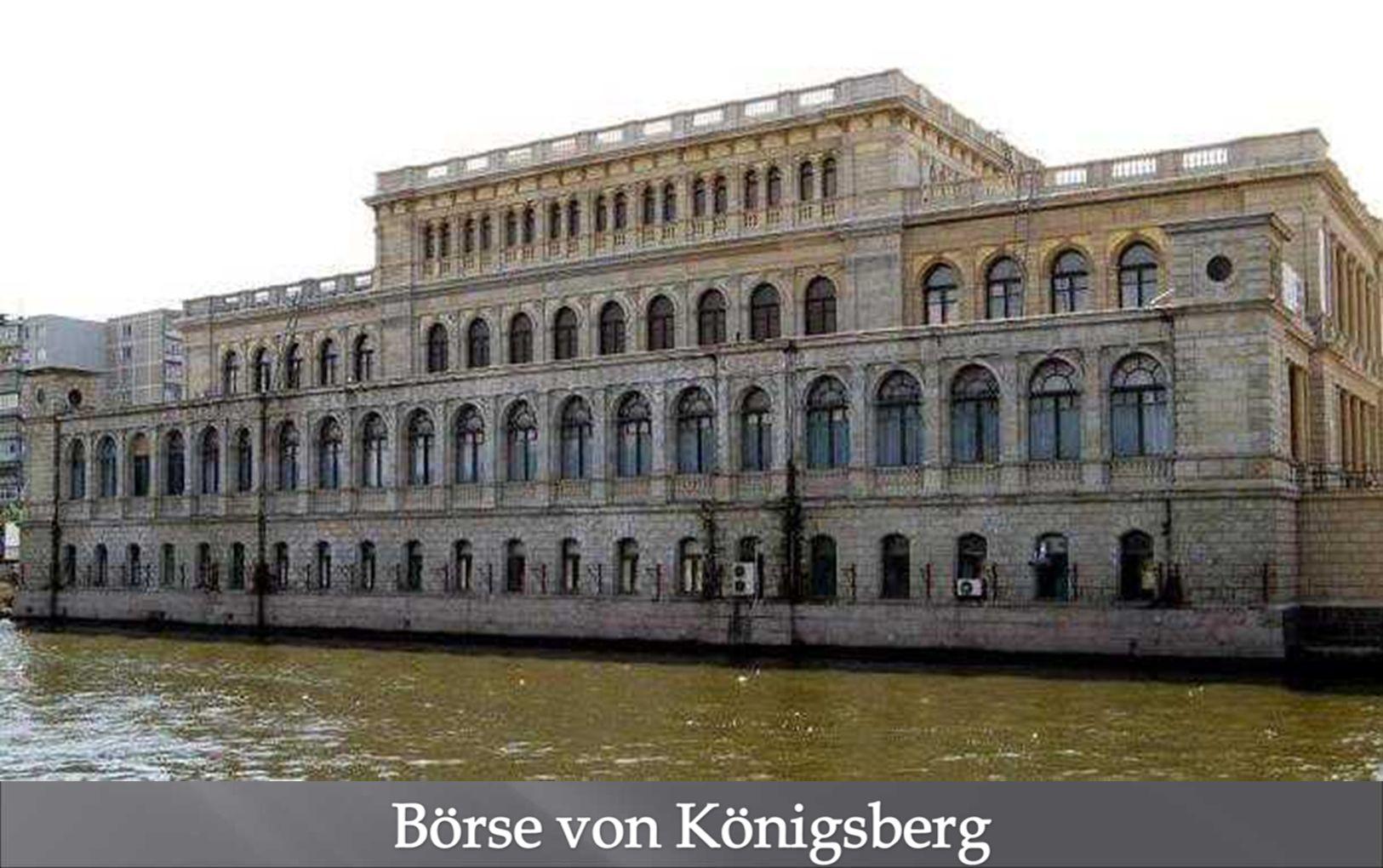 Eines der wenigen Gebäude aus der deutschen Zeit: Die Börse von Königsberg war einst Zentrum des weltberühmten Getreide- und Produkthandels.