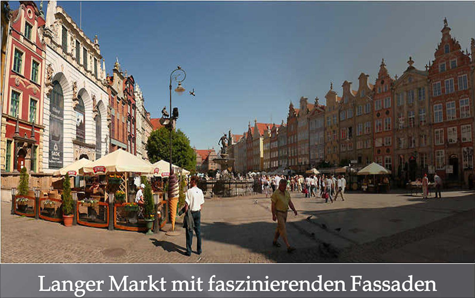 Langen Markt. Eine faszinierende Fassade reiht sich an die andere