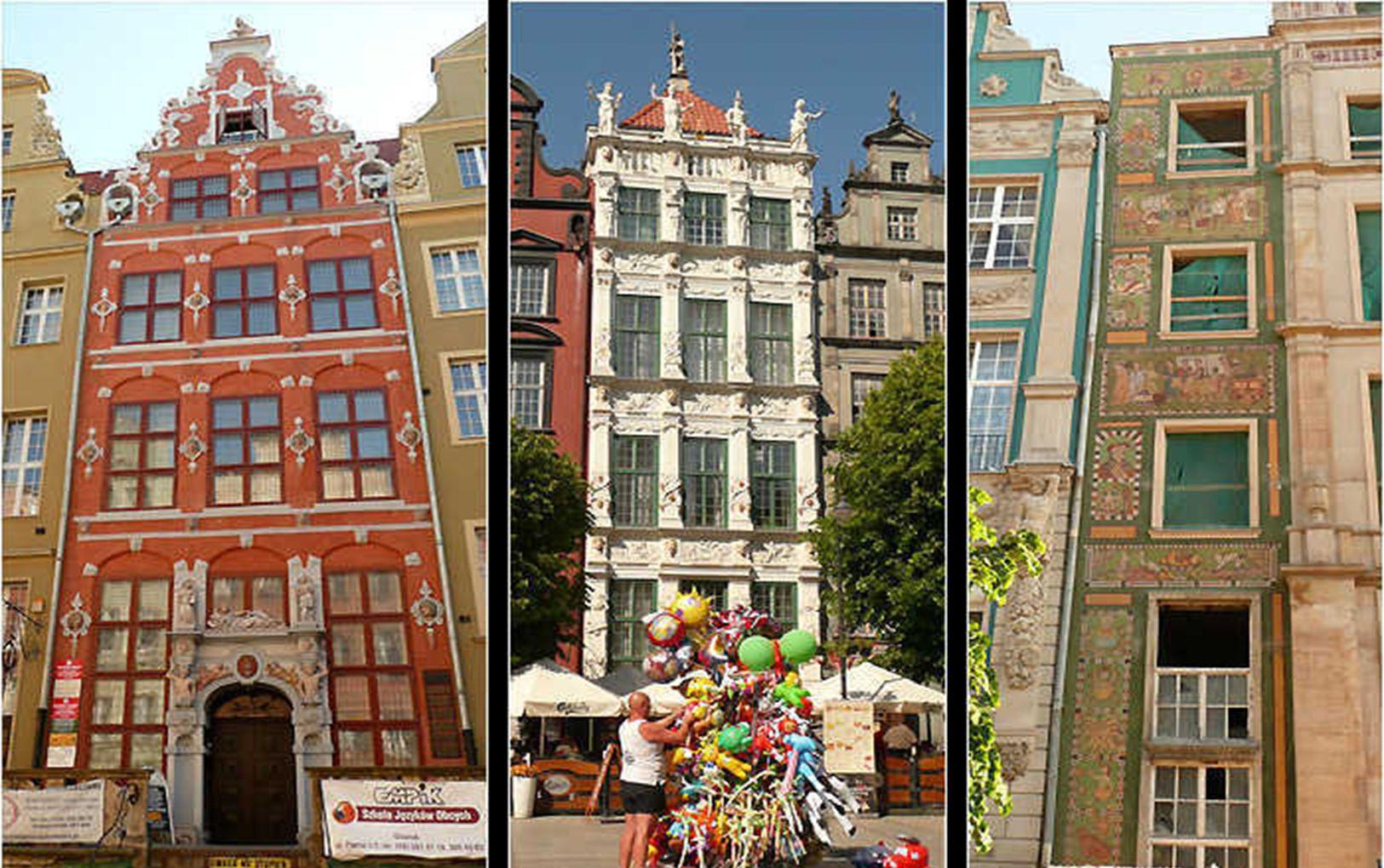 Viele Fassaden in der Rechtstadt sind von außerordentlicher Schönheit und Originalität.